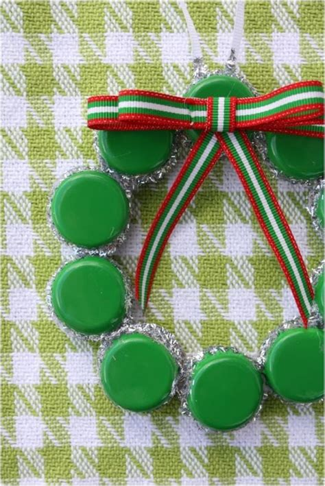top  upcycled bottle cap diy christmas ornaments
