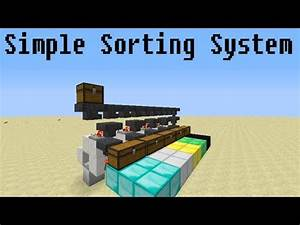 Minecraft Very Simple Sorting System YouTube