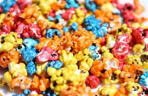 colored popcorn colored popcorn popped popcorn in pre packaged bags