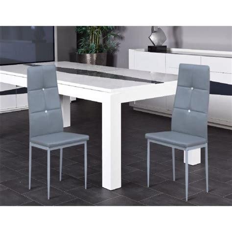 salle a manger strass lot de 2 chaises de salle 224 manger grise strass achat vente chaise salle a manger