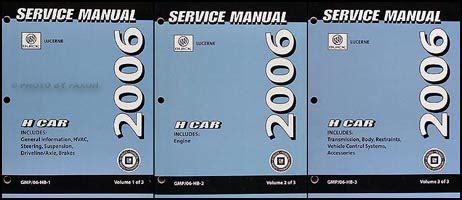 what is the best auto repair manual 2006 dodge dakota club interior lighting 2006 buick lucerne repair shop manual original 3 volume set