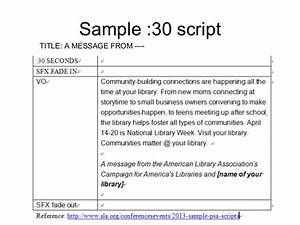 psa script guidelines With public service announcement template
