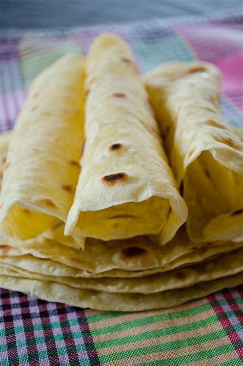 basic homemade flour tortillas