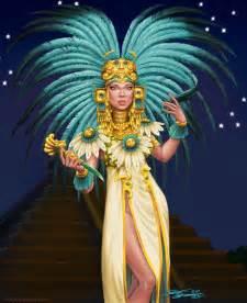 Aztec Warrior Princess Painting