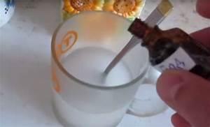 Для удаления папиллом добавить в стакан воды 2 капли