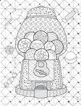 Coloring Gumball Machine Pages Bookmark Drawing Mystery Getdrawings Printable Bookmarks Getcolorings Poppy Weave Col Flowers sketch template