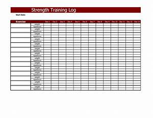 best photos of training log template employee training With weight lifting template excel
