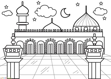30 ide gambar animasi masjid nabawi