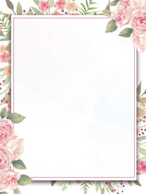 Backgrounds Borders by Painted Flowers Border Invitation Background Design