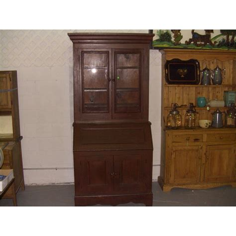 furniture drop front secretary desk with hutch and