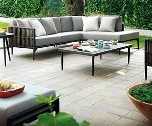 Salon Jardin Angle : canape jardin ~ Teatrodelosmanantiales.com Idées de Décoration