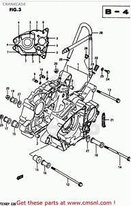 Suzuki Lt230e 1987  H  Crankcase
