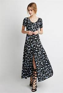 Buttoned Floral Maxi Dress from Forever 21 New style