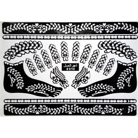 Acheter Pochoirs Pour Tatouage Henné Indien Mehndi Design