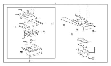 toyota camry panel console upper rear body canada