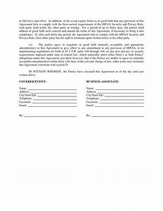 Sample business associate agreement for Good faith contract template
