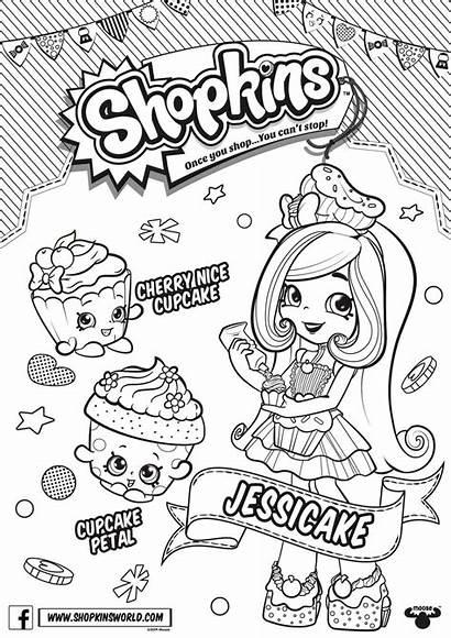 Shopkins Season Coloring Jessicake Pages Rare