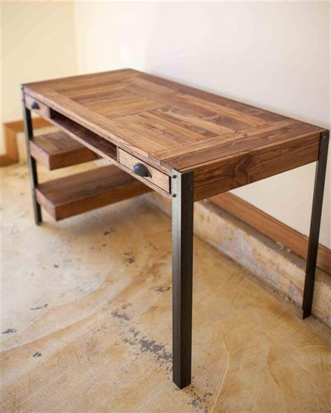 desk with drawers and shelves pallet desk with drawers and shelves pallet furniture diy