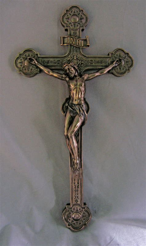 wall crucifix jesus christ religious resin cross catholic