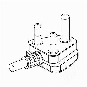 Dial 10 In  Evaporative Cooler Motor Pigtail Receptacle