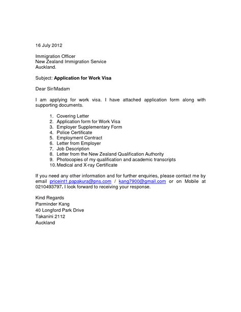 cover letter for visa application new zealand essay potna