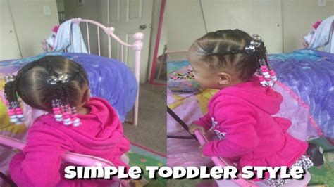 simple hairstyle   year  toddler cute hairstyles   girls girlsncurls youtube
