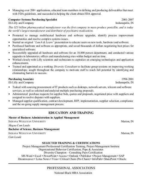 Procurement Analyst Resume Exle by 2013 Supply Chain Procurement Resume