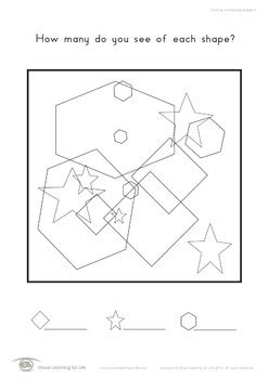 counting overlapping shapes visual perception worksheets