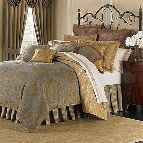 michael amini victoria  piece reversible comforter set