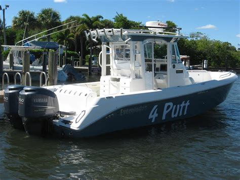 Everglades Boats Name by Neff Yacht Sales Used 29 Foot Everglades 290 Pilot