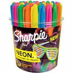 Illustrated list of Sharpie Colors Includes Standard