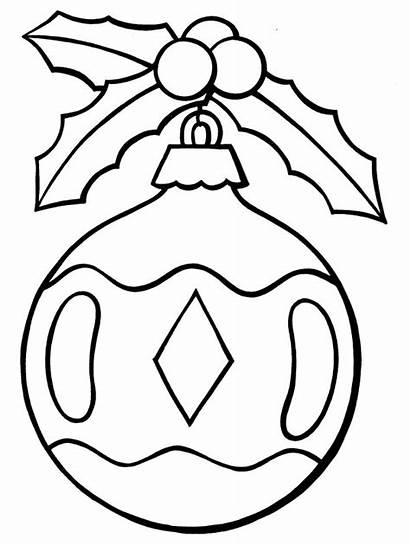 Christmas Ornaments Clipart Coloring Pages Clipground