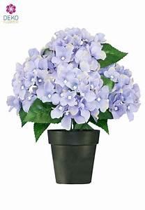 Hortensie Im Topf : kunstblumen hortensien bl ulich lila 27 cm getopft ~ Eleganceandgraceweddings.com Haus und Dekorationen