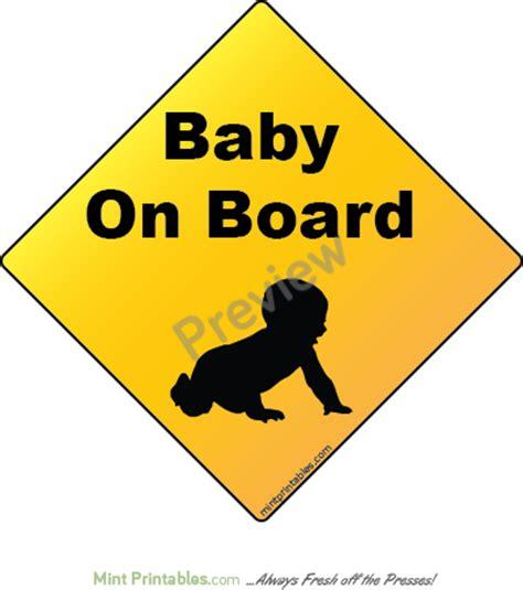 Baby On Board Template - Costumepartyrun