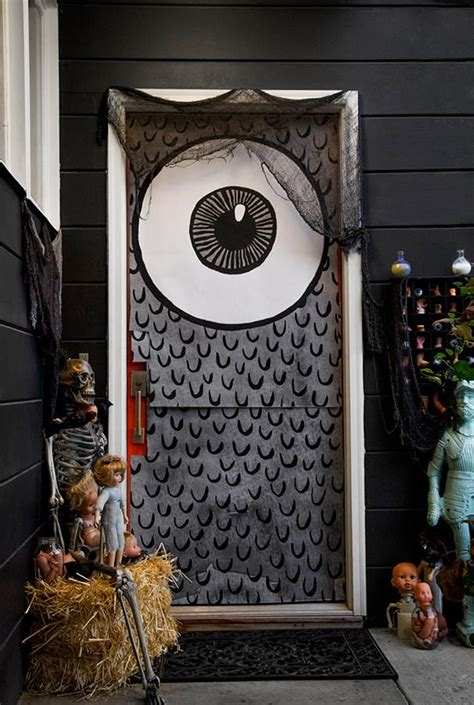 dreadful doors halloween door covers caravan shoppe