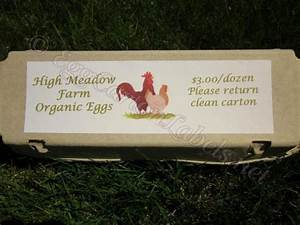 24 custom egg carton labels personalized printed egg With egg carton labels template