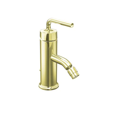 shop kohler purist vibrant french gold vertical spray