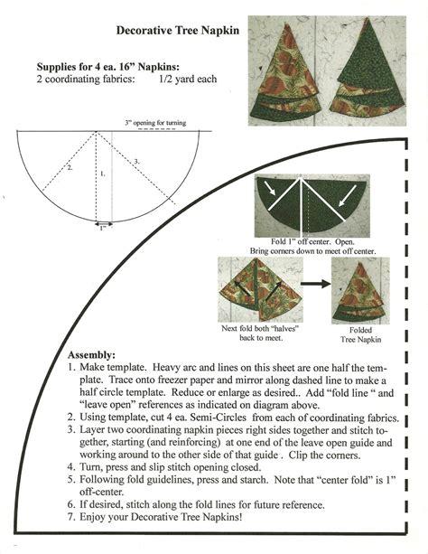 quilter s fun christmas tree napkins