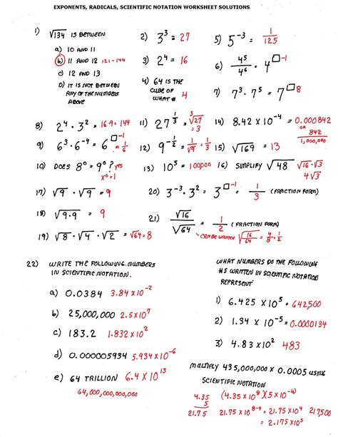 worksheet works scientific notation answers worksheets for