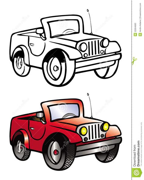 yellow jeep clipart jeep coloring book stock illustration image of white