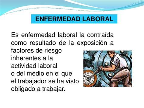 enfermedades profesionales salud ocupacional