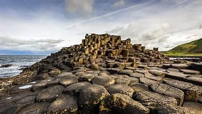 Ireland Causeway Rock Landscape Coast Desktop Backgrounds