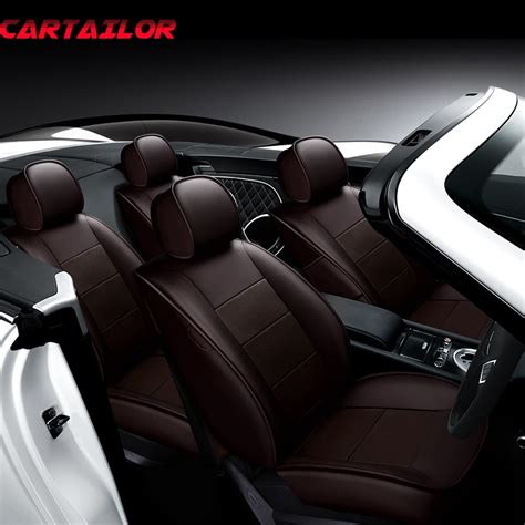 Cowhide Seat Covers by Cartailor Tailored Cowhide Leather Car Seat Protector For