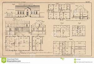 142 Years Old Technical Drawing Stock Photography - Image