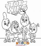 Wing Coloring Friends Pages sketch template