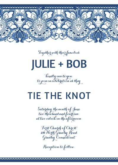 lace invitation template  burlap