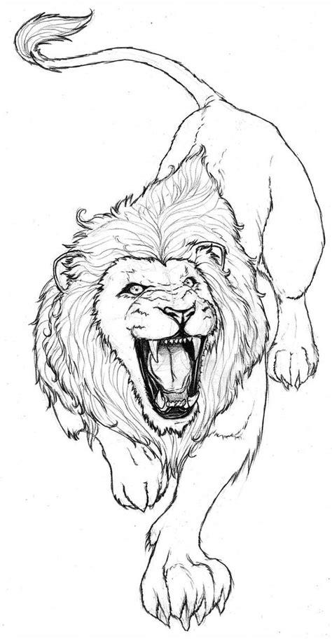 Lion by franja2190   Boceto de león, Bocetos de animales