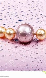 Pearls on pink stock image. Image of glitter, grace ...