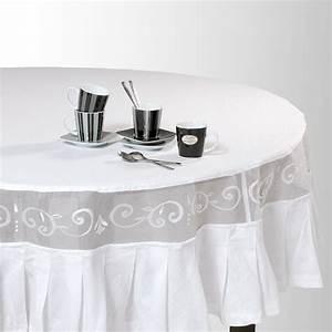 Nappe De Table Ronde : nappe ronde en coton blanche d 180 cm maisons du monde ~ Teatrodelosmanantiales.com Idées de Décoration
