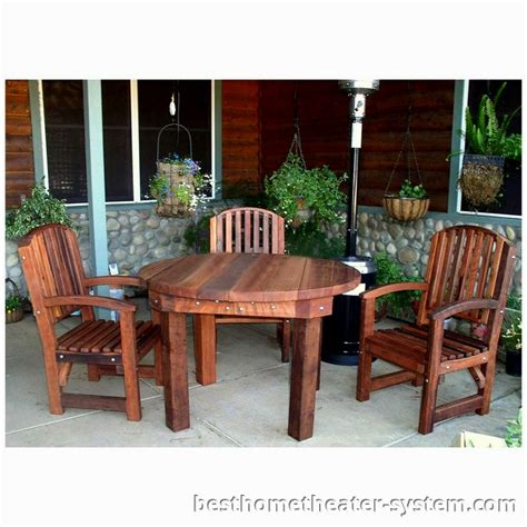 outdoor furniture plans  amazing redwood patio wood